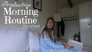 School Morning Routine || Extremely Productive (6am)