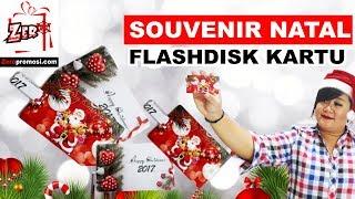 Souvenir Natal Flashdisk Kartu
