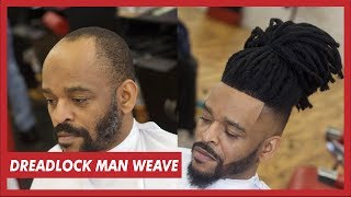 MAN WEAVE DREADLOCKS TUTORIAL  | FULL UNIT INSTALL