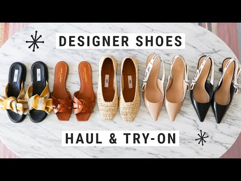 Designer Shoe Haul & Try-On 2018!