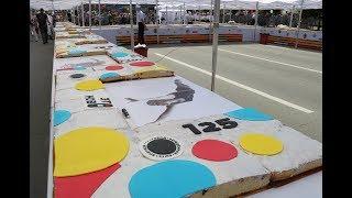 Новосибирцы приготовили 125 метровый пирог