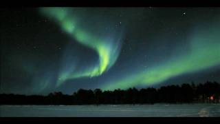Aurora Borealis, Northern Lights in real speed over Moskosel i Sweden.