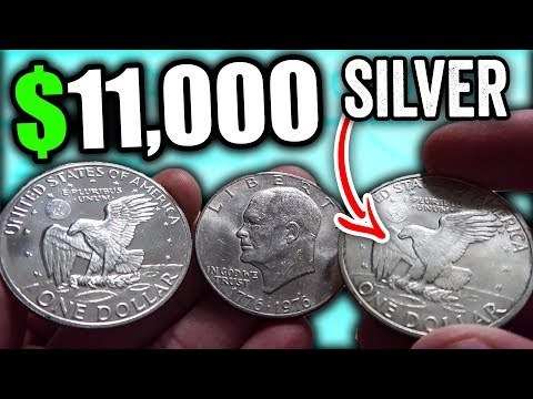 Video 1776 To 1976 Eisenhower Dollar Coins Worth Money - Rare Silver