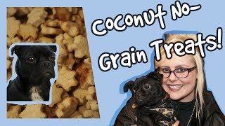 DIY Coconut Grain Free Dog Treats! Homemade Healthy Grain Free Dog Biscuit Recipe PLUS Competition!