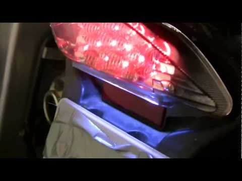 BMW F650 Classic Funduro - Replacing Tail Brake Light with LED light