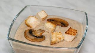 Грибной крем суп из шампиньонов, рецепт с картофелем, сливками и сыром сливочным