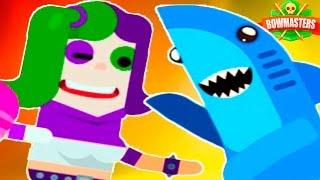 Веселая БИТВА МУЛЬТ ГЕРОЕВ!!! Безумная мультяшная игра Bowmasters от Cool GAMES