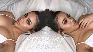 MY SULTRY AND GLAM BIRTHDAY MAKEUP TUTORIAL! | Maria Bethany