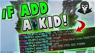 FRIENDING THE COOLEST KID! ( Hypixel Skywars FUNNY MOMENTS )