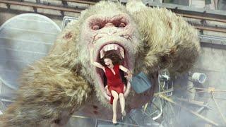 大猩猩吸入神秘气体,变异成恐怖巨兽,一口就吞下了女总裁!