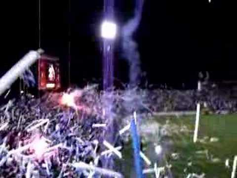 """Salida UC vs River 08"" Barra: Los Cruzados • Club: Universidad Católica"