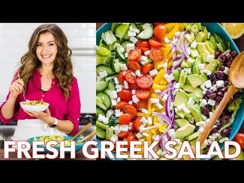 Fresh  & Healthy Greek Salad Recipe + Easy Dressing –  Natasha's Kitchen