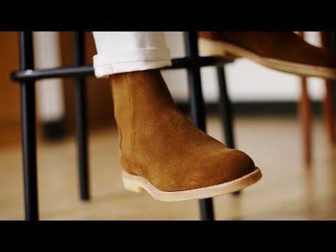 Chelsea boots Barker en cuir suédé Stead