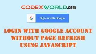 Login with Google Account using JavaScript