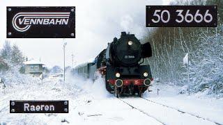 preview picture of video 'Vennbahn 50 3666 @ Raeren in wintertime'