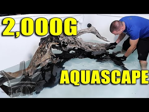 AQUARIUM AQUASCAPE - 2,000 GALLON FISH TANK SCAPE!!