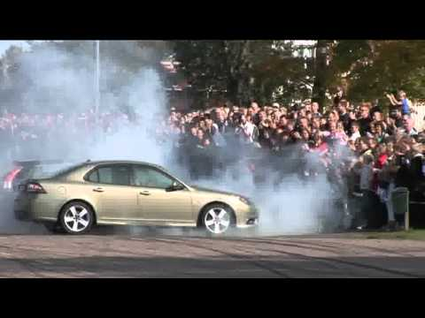 Team SAAB Performance Stunt Driving