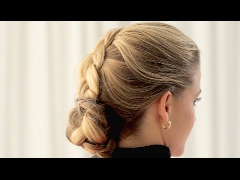 How to: Dutch Braid Twist Updo