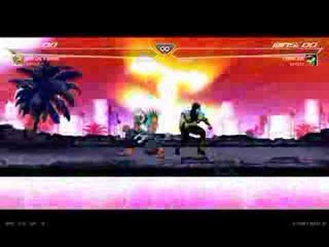 MK vs SF 3 (Chameleon vs Shin Akuma) (Actual fight) [2 of 2]