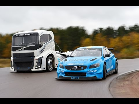 Volvo Trucks - The Iron Knight Vs Volvo S60 Polestar - Two Titans In A Head-to-head Challenge