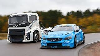 Volvo Trucks - The Iron Knight vs Volvo S60 Polestar - Two titans in a head-to-head challenge