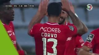 Goal | Golo Carlos Jr.: Santa Clara (1)-0 Benfica (Liga 19/20 #11)