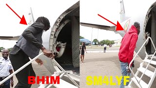 WATCH HOW SHATTA WALE AND STONEBWOY BOARD ONE AIR CRAFT TO KUMASI