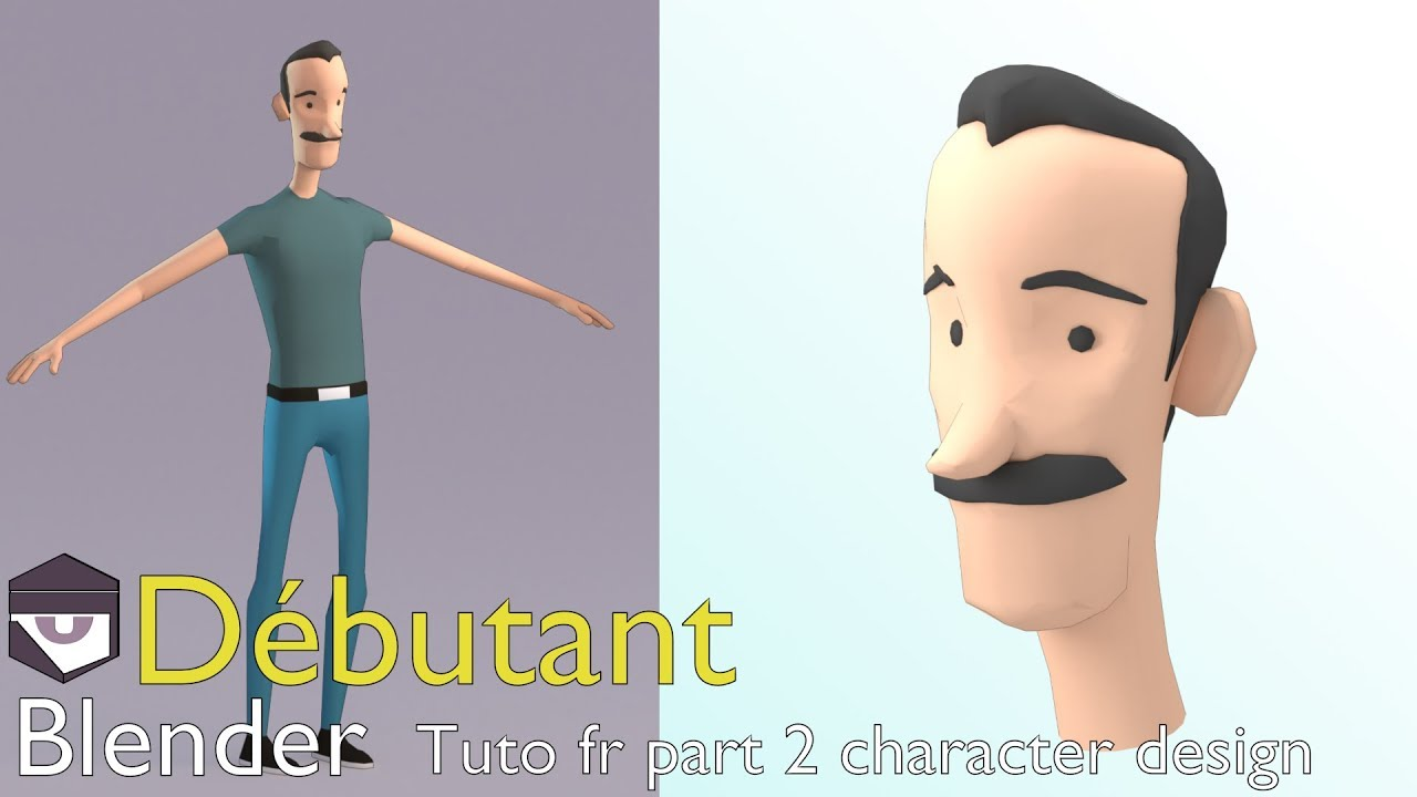 Tuto fr Blender part 2 character design