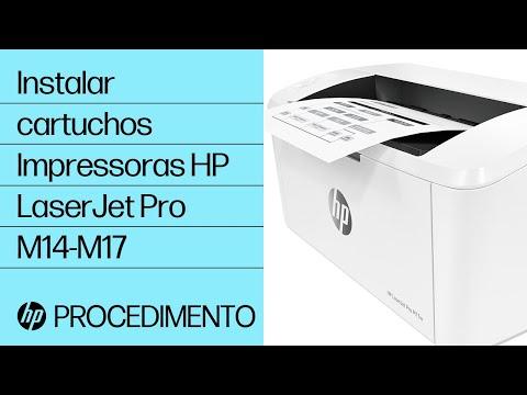 Como instalar cartuchos nas impressoras HP LaserJet Pro M14-M17
