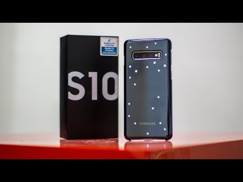 LED Cover, Black (Samsung Galaxy S10) : Unboxing (ASMR)