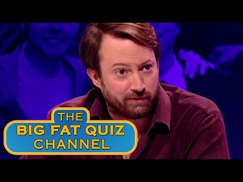 Big Fat Quiz – David Walliams a penis