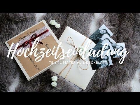 Hochzeitseinladung | DIY | Deckblatt und Materialien | Teil #1 | Wortfetzen