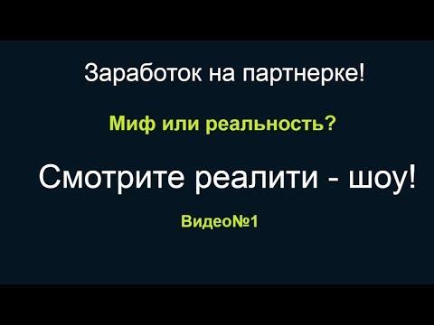 Партнерский маркетинг заработок в реальном времени видео№1