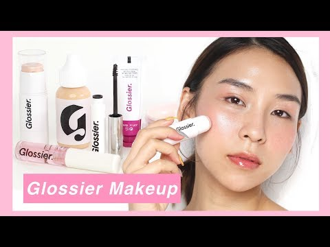Full Face of Glossier Makeup - TINA TRIES IT