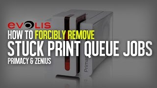 How to forcibly delete stuck print jobs in the print queue