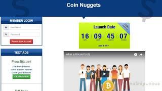 Coin Nuggets! Регистрация и работа во 2 ом проекте Майкла Вебера Coin Nuggets