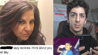 REACTING TO MY MOMS INSTAGRAM COMMENTS...