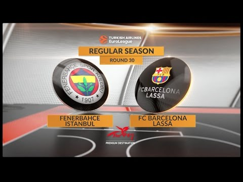 EuroLeague Highlights RS Round 30: Fenerbahce Istanbul 68-65 FC Barcelona Lassa