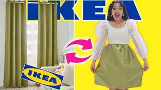 صنعت لبسة كاملة من أثاث Ikea فقط ! ( طلعت بيها 🤦♀️)