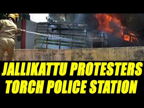 Jallikattu protestetrs torched police station in Chennai|Oneindia News
