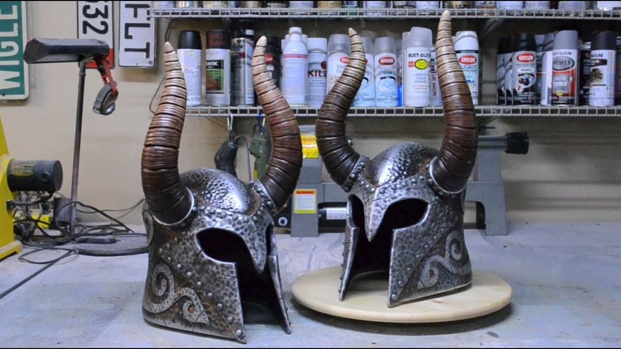 See How A Real Skyrim Helmet Is Made (In Under Four Minutes)