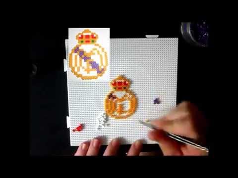 Real Madrid Futbol Club Hama beads mini