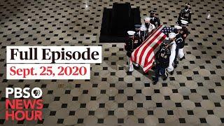 PBS NewsHour live episode, Sept. 25, 2020