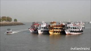 preview picture of video 'travel india@colorful boats at gateway of india / part 2, bombay, mumbai, maharashtra, india'