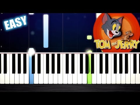 Tom & Jerry Theme - EASY Piano Tutorial by PlutaX