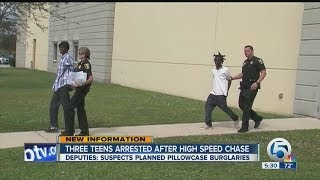 Three teens arrested after high speed chase