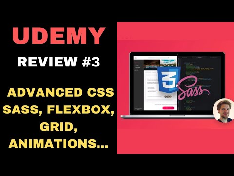 UDEMY COURSE REVIEW #3: Advanced CSS and Sass: Flexbox, Grid, Animations and More!