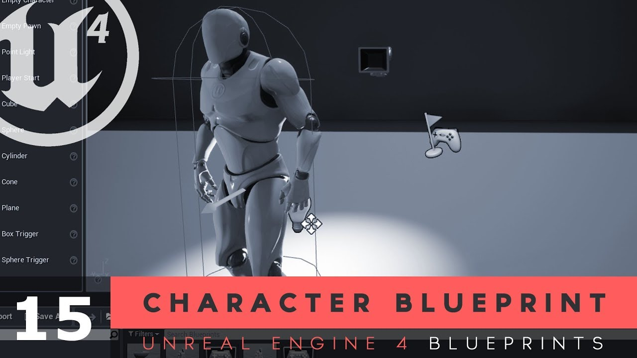Player Character Blueprints - #15 Unreal Engine 4 Blueprints Tutorial Series