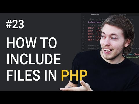 23: How to include documents in PHP | PHP tutorial | Learn PHP programming