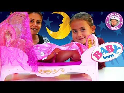 Baby Born Prinzessinnen Bett interactive - traumhaftes Puppenbett von Zapf - Kanal für Kinder